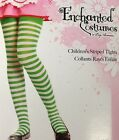 Child Tights Stripe Green & White Girl  Stockings - Child Stripped Tights