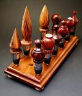 Bottle Stopper Display Stand Rack  Black Walnut  Holds 17 stoppers Made in USA