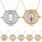 Fashion Harry Potter Time Turner Necklace Hermione Rotating Spins Hourglass Sand