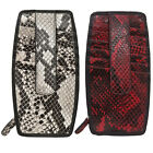 iLi Leather Python Print Double Sided Credit Card Stacker 4404