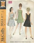 McCall's 9513 Misses' Dress with Neckline Variations Size 16  Sewing Pattern