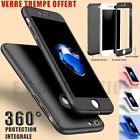 COQUE ETUI 360 IPHONE 6 7 8 5 XR XS MAX 11 12 PRO PROTECTION VITRE VERRE TREMPE