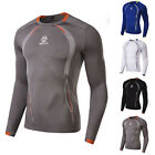 New Mens Compression Under Base Layer Shirt Athletic Long Sleeve Tops Activewear