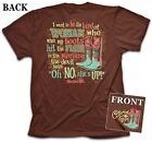 """""""OH NO!!"""" Kerusso Cherished Girl Short Sleeve Brown T-Shirt"""