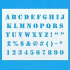 Stencil Alphabet Font Mylar Letter Number Upper Case Painting DIY Airbrush Art