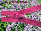 PINK *CLOSED ENDED ZIP* No 5  CHUNKY PLASTIC TEETH/ /from 6  to 35 inches