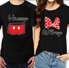 Valentine's Day Couple matching T Shirts Wifey Hubby couples shirt Mickey Minnie