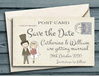 SAVE THE DATE MAGNETS Shabby Chic Cute Couple Wedding Magnets with Envelopes