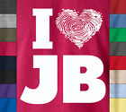I LOVE JB Justin Bieber Concert Soft Ringspun Cotton T-Shirt Pop Hip Hop Music