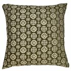 ng04a Olive Beige Pale Grey Snowflake Linen Blend Sofa Cushion Cover/Pillow Case