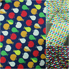 100% Cotton Fabric Fruit Apple & Pear Print Quilting Crafting Material Multi