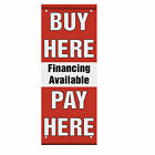 Buy Here Pay Here Financing Available Red Double Sided Vertical Pole Banner Sign $126.99 USD on eBay