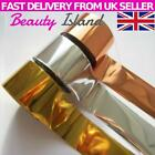3 NAIL FOIL GOLD SILVER ROSE GOLD NAIL ART FOILS STICKERS