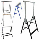 SAW HORSE SETS TRESTLES WORK STANDS FOLDING TELESCOPIC HEAVY DUTY BENCH PORTABLE