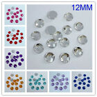 12mm Round Flatback Square Faceted Rhinestone Acryl Diamond Scrapbook DIY Making