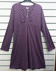 %SALE% MUDD & WATER ORGANIC COTTON LONG SLEEVED DRESS PURPLE PINK FLOWERS 18 NWT