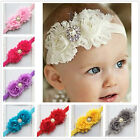 Baby Girl Kid Headband Toddler Infant Elastic Rhinestone Hair Bow Band Headwear