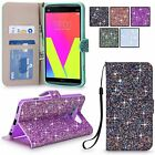 For LG V20 Multi Tonal Glitter Pu Leather Magnetic Flip Card Wallet Case Cover