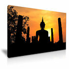 BUDDHA TEMPLE At Sunset Canvas Wall Picture Print ~ More Size
