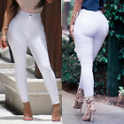 New Fashion Women Denim Skinny Pants High Waist Stretch Jeans Pencil Trousers