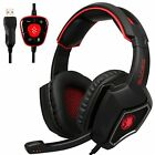 Sades Spirit Wolf 7.1 Surround Sound USB Gaming Headphones Headset W/Mic for PC