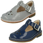 Girls Clarks Yarn Weave Fst Patent Leather First Walking Shoes G Fitting