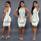 2017 NEW WOMEN BANDAGE BODYCON COCKTAIL LADIES MIDI EVENING PARTY DRESS CLUBWEAR