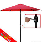 AbcCanopy Commercial 9ft Umbrella with Push Button Tilt and Crank ,8 Steel Ribs