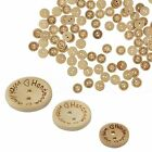 Внешний вид - 100pcs Wood Love Heart  Handmade 2 Holes Wooden Buttons Sewing Scrapbooking DIY