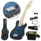 "Electric Guitar Kids 30"" Guitar With Amp + Case + Strap and More New"