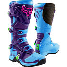 New FOX Racing Comp 5 Vicious LE Blue Purple Kids Youth MX Offroad Boots