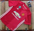 New Genuine Manchester United 2016/17 Home Shirt Junior S M L XL - Minor Rejects