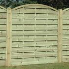 SAN REMO Tanalised wooden EURO fence panel 900mm to 1800mm high