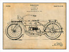 1919 Harley Davidson Motorcycle Patent Print Art Drawing Poster 18 X 24 $24.99 USD on eBay