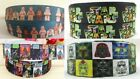 "STAR WARS LEGO Grosgrain Ribbon 1"" wide Cake Hair Bows 1m Metre UK"