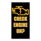 my check engine light is on - Check Engine Light On? Style 2  DECAL STICKER Retail Store Sign