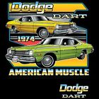 Vintage 1974 Dodge Dart Licensed Car T Shirt Unisex Adult T Shirt 20413HD2 $17.99 USD