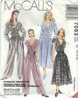 McCall's 7063 Misses' Dress, Jumpsuit and Tie Belt 12, 14, 16   Sewing Pattern