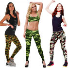 2017 Fashion Lady Womans Camouflage Zipper Leggings Gym Yoga Running Pants Hot