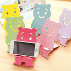 Lovely Wooden Bear Mobile Phone Stents Cell Phone Stand Desktop Holder  1 pcs