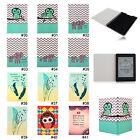 Elephant Owl PU Slim Folio Case Cover For Amazon Kindle Paperwhite 1 2&3G Wifi