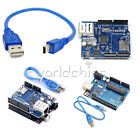 New UNO R3 Board + Ethernet Shield W5100 SD Slot Expansion Board For Arduino