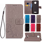 For Motorola Moto G4 / G4 Plus Luxury PU Leather Wallet Card Holder Case Cover