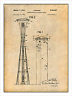 1961 John Graham Seattle Space Needle Patent Print Art Drawing Poster 18X24