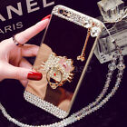Luxury Bling Diamond Crystal Bowknot Ring Holder Stand Mirror Strap Case Cover