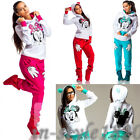 Women Athletic Wear Cute Minnie Print Hoodie Pant Set Sports Running Tracksuits