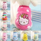 New Fashion Pets Cartoon Warm Soft Vest Dogs Cats Puppy Pets Flannel Clothes