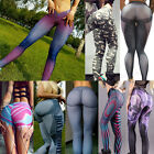 Ladies Yoga Fitness Stretch Leggings Running Gym Sports Pants Trousers Apparel