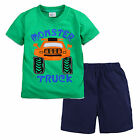 New Baby Children Kid Boy Green T-shirt+Shorts 2PC set Outfit Clothing