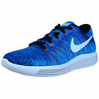 NIKE LUNAREPIC LOW FLYKNIT RUNNING SHOES RACER BLUE WHITE PHOTO BLUE 843764 401